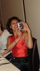 Manjeeta snaps a pic.