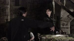 Getting direction from Will before the well scene
