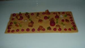 foie gras mousse, crabapple, laurel, brioche