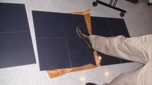 Brad tests the floors