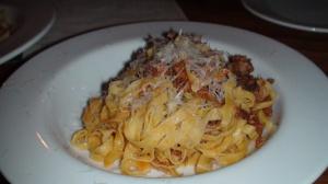 Tagliarini with pork ragu