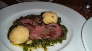 Alberta flank steak with salsa verde
