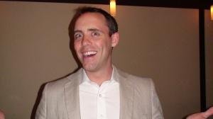 Script Coordinator Lawren Bancroft-Wilson in happier, less nauseous times.