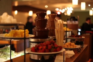 Chocolate fountains and dunkables courtesy of Chocoatl; photo courtesy of Lawren Bancroft-Wilson