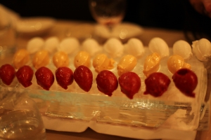 Sorbets on ice (photo courtesy of Lawren Bancroft-Wilson)