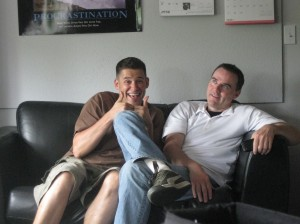 Special Features Producer Ivon Bartok loves to drop by the offices and just hang out - much to Paul's delight.