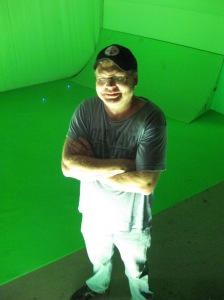 Visual Effects Supervisor Mark Savela presides over Space's green screen mayhem.  Now with 50% more dinosaurs!