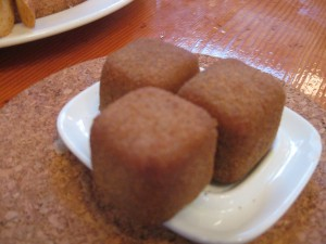 Cromesquis.  Crispy on the outside.  Oozing with sweet and savory foie gras goodness on the inside.