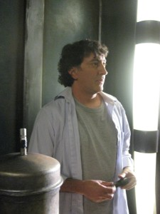 Peter Kelamis on set