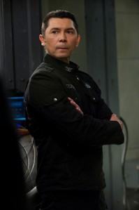 SGU's Colonel Telford, ready for action (photo courtesy and copyright MGM Television)