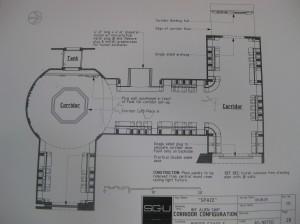 Схема коридора космического корабля инопланетян.