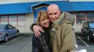 Amanda Tapping and Mitch Pileggi.