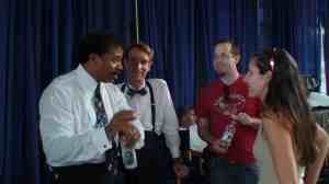 Behind the scenes with Neil de Grasse Tyson, Bill Nye, Martin Gero, and Mika McKinnon.