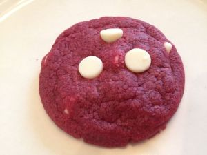 Red velvet chocolate chip cookie