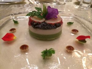 Symphony of the Sea: lobster, crab, and caviar.