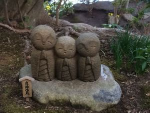 "Ojizo-osama.  According to Akemi ""Statues with different meanings.  Usually good luck thing I guess."""