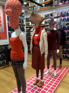 Mannequin display at Uniqlo, Ginza.
