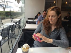 I snap a pic for my blog of Kathode snapping a pic…for her blog?  How meta.
