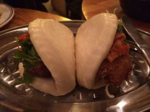 Pork belly and Korean chicken steamed buns
