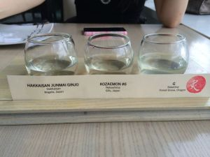 For me, the sake sampler.