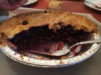 And blueberry pie (a la mode, of course) for dessert!