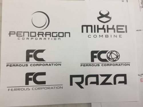 Choices for some of the multi planetary (corporate) logos