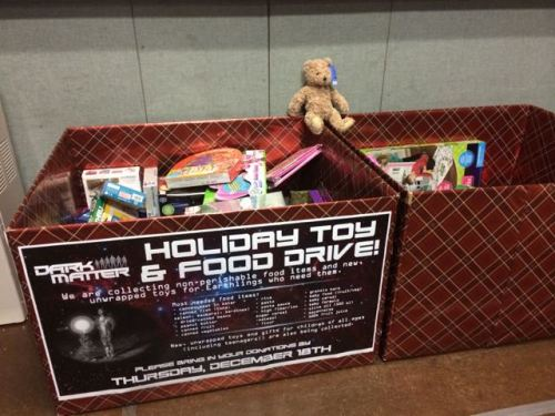One more day for our Dark Matter Holiday Toy Drive!