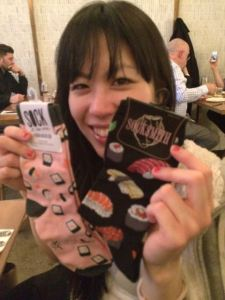 Sushi socks!  Just in time for our Sock of the Day feature!