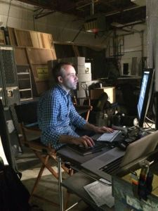 LBW (and his monitor) save the day at last weekend's Dark Matter gallery shoot.