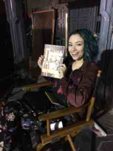 Jodelle Ferland (FIVE) also takes the time to read a classic.