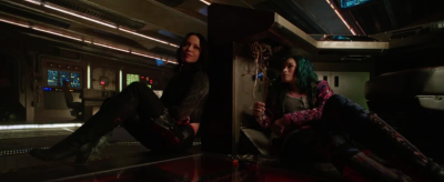 Just two women sitting around the bridge of a spaceship, not talking about guys.