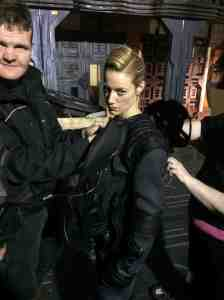 The ever-sassy Zoie Palmer suits up!