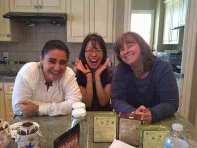 Daisy, Akemi, and sis having a grand ole time.