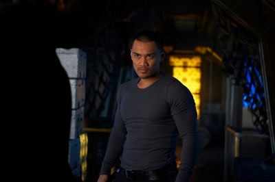 "DARK MATTER -- ""Episode Seven"" Episode 107 -- Pictured: Alex Mallari Jr. as Four -- (Photo by: Russ Martin/Prodigy Pictures/Syfy)"