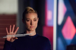 "DARK MATTER -- ""Episode Twelve"" Episode 112 -- Pictured: Zoie Palmer as The Android -- (Photo by: Russ Martin/Prodigy Pictures/Syfy)"