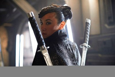 """DARK MATTER -- """"Take the Shot"""" Episode 210 -- Pictured: Ellen Wong as Misaki Han-Shireikan -- (Photo by: Russ Martin/Prodigy Pictures/Syfy)"""