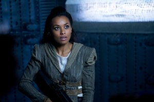 "DARK MATTER -- ""We Should Have Seen This Coming"" Episode 206 -- Pictured: Melanie Liburd as Nyx -- (Photo by: Steve Wilkie/Prodigy Pictures/Syfy)"