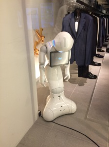 Sad robot.